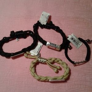 Jewelry - Lot of 4 Cloth Bracelets w/ Inspirational Sayings